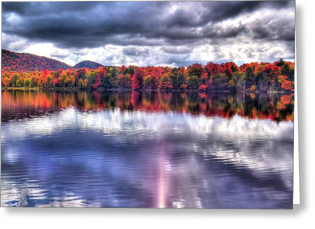 Greeting Card featuring the photograph Sun Streaks On West Lake by David Patterson