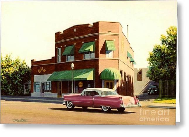 Sun Studio Memphis Greeting Card by Frank Dalton