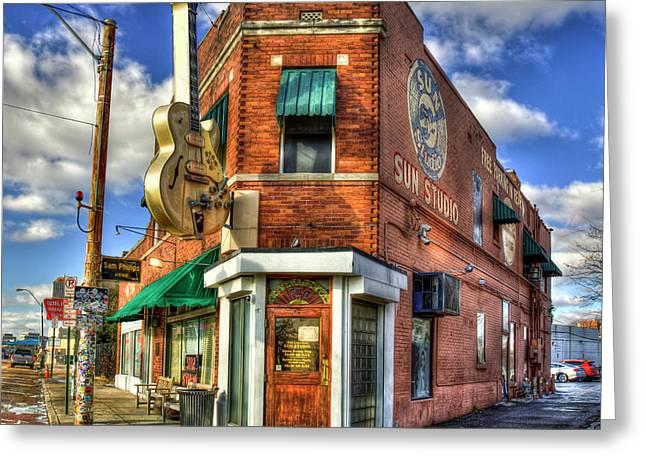 Sun Studio Rock N Roll Birthing Place Memphis Tennessee Art Greeting Card