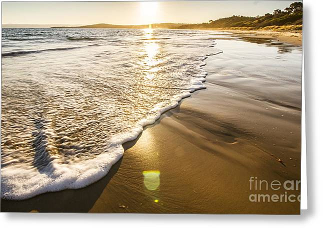 Sun Surf And Waves Greeting Card by Jorgo Photography - Wall Art Gallery