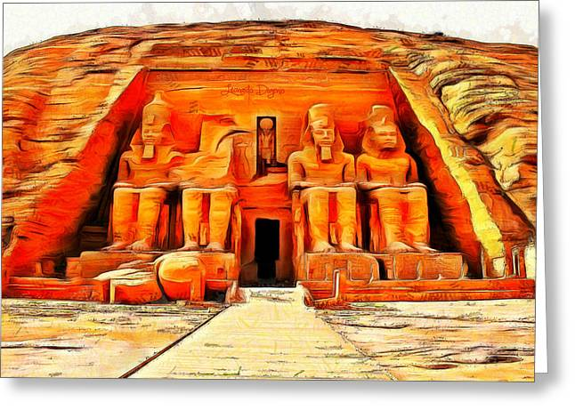 Sun Temple Of Abu Simbel Greeting Card