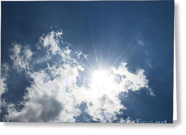 Sun Through The Clouds Greeting Card by Reva Steenbergen