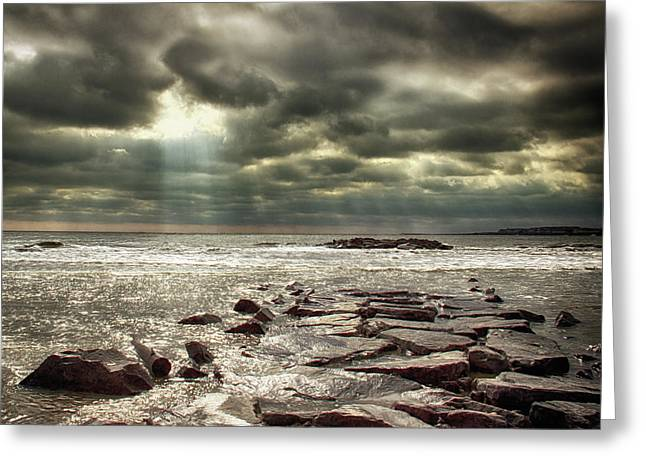 Sun Thru The Clouds Greeting Card by Tom Gari Gallery-Three-Photography