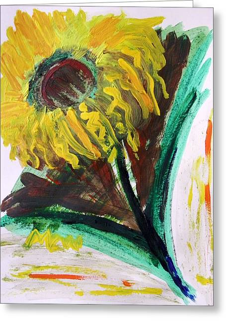 Greeting Card featuring the painting Sun Tilt by Mary Carol Williams