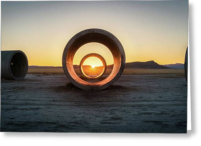 Sun Tunnel Solstice Greeting Card