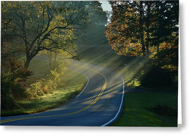 Sun-up On Conners Grove Greeting Card