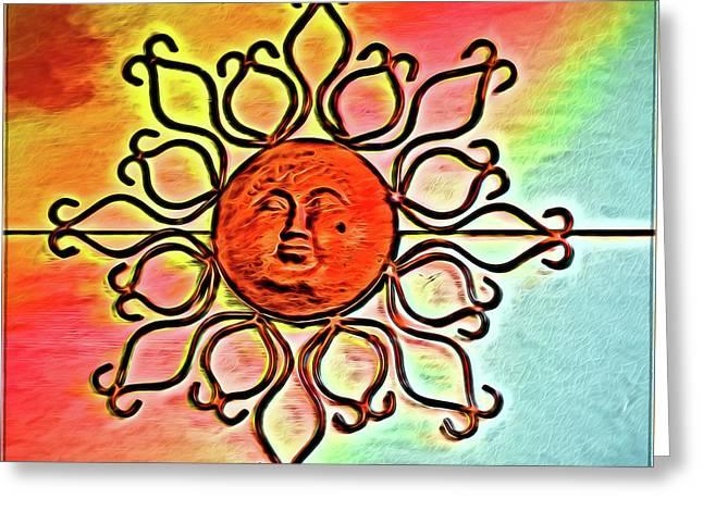 Sun Wall Decoration Greeting Card