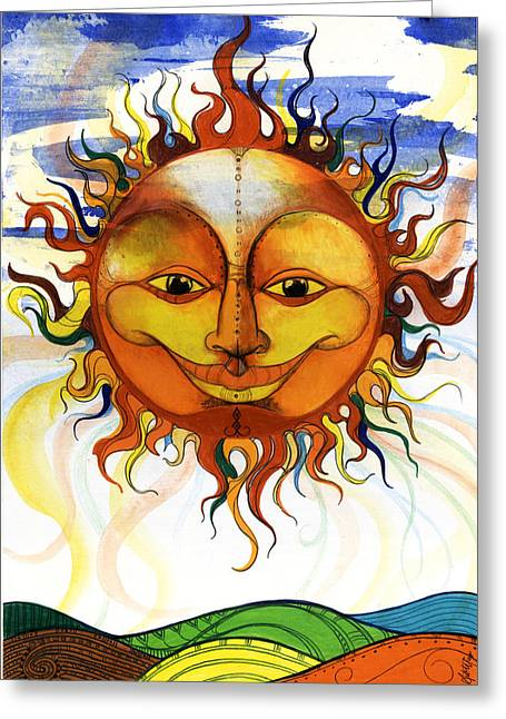 Sun2 Greeting Card by Anthony Burks Sr