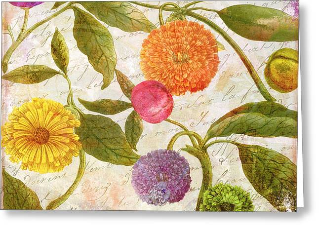 Sunbathers Botanical I Greeting Card by Mindy Sommers