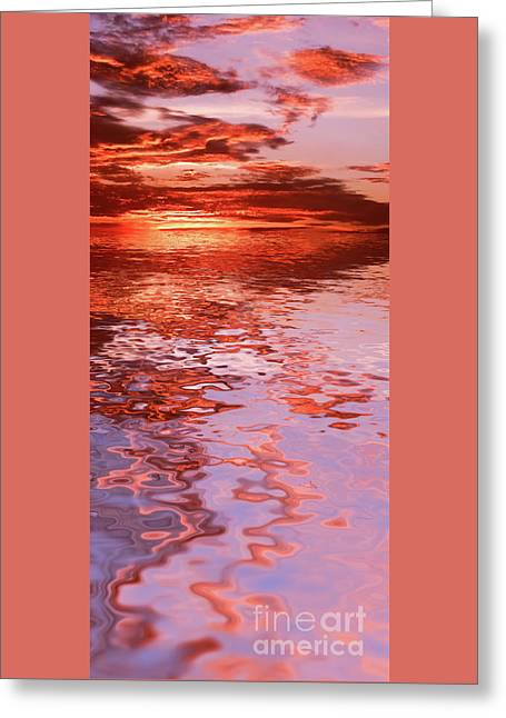 Sunburned Reflections By Kaye Menner Greeting Card