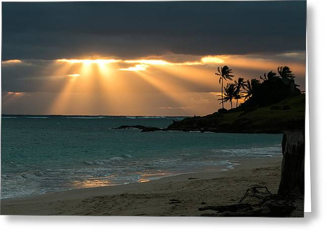 Sunburst At Kailua Greeting Card