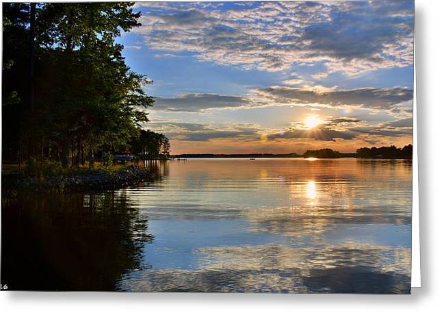 Greeting Card featuring the photograph Sunburst At Sundown by Lisa Wooten