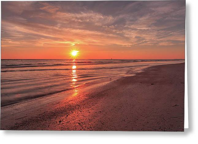 Sunburst At Sunset Greeting Card