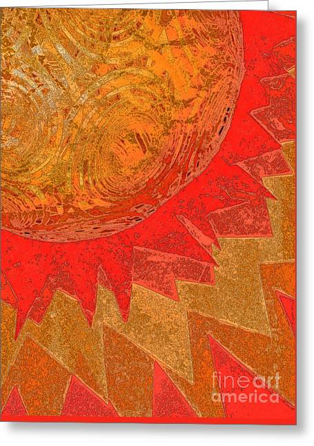 Sunburst By Jammer  And Jrr Greeting Card by First Star Art