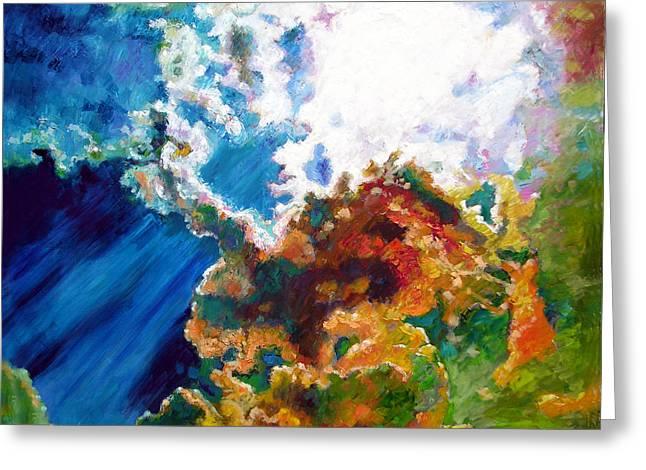 Sunburst Greeting Card by John Lautermilch