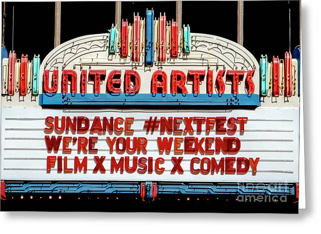 Sundance Next Fest Theatre Sign 1 Greeting Card