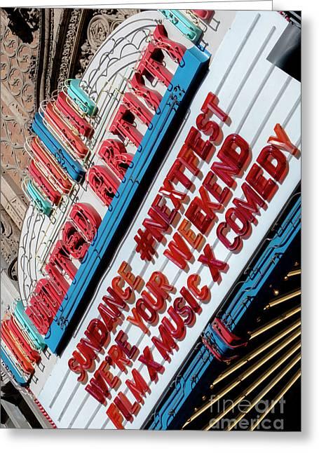 Sundance Next Fest Theatre Sign 2 Greeting Card