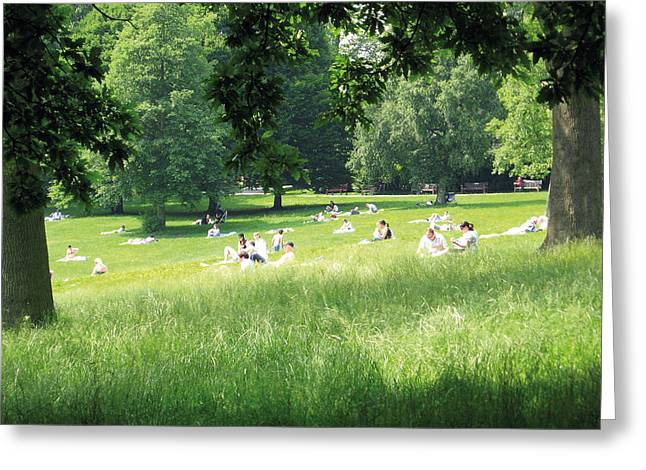 Sunday Afternoon At Waterlow Park Greeting Card