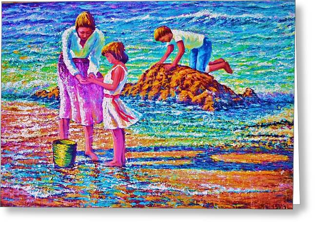 Sunday Afternoon Beach Study Greeting Card