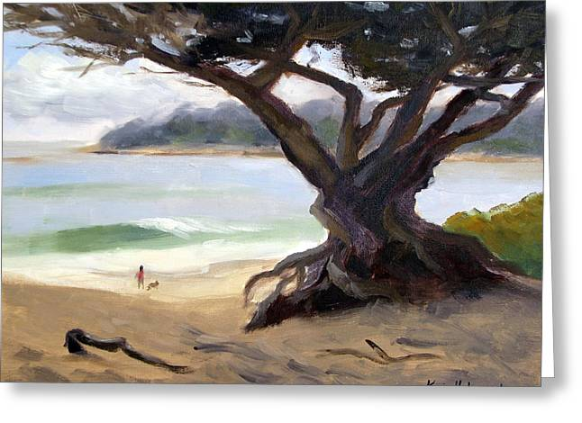 Sunday Afternoon Carmel Beach Greeting Card by Karin  Leonard