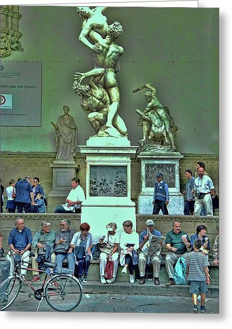 Sunday Afternoon In Florence Greeting Card