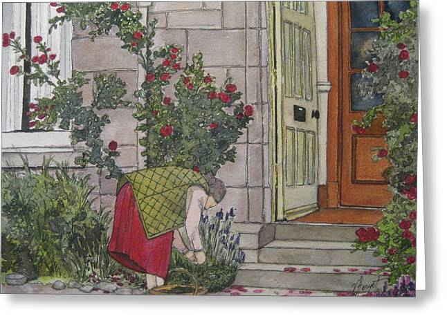Sunday Afternoon St Andrews Greeting Card by Victoria Heryet