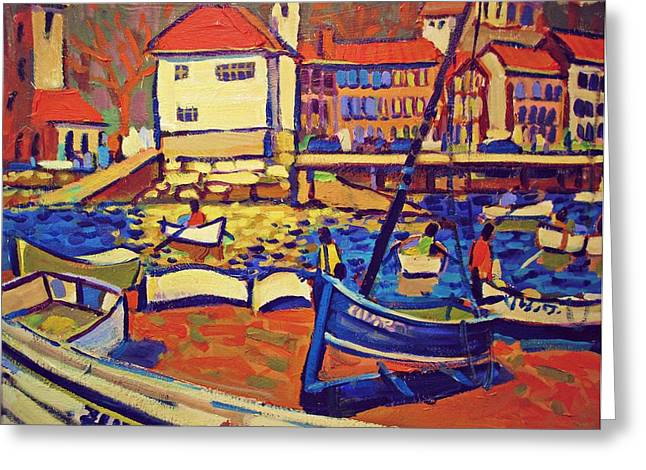 Sunday Boaters Greeting Card by Brian Simons
