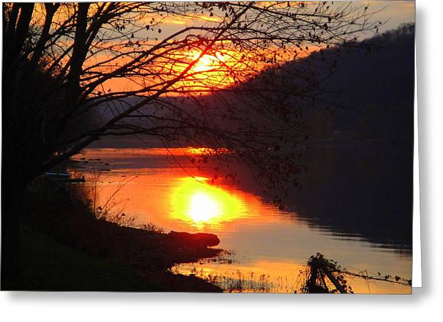Sunday By The River Greeting Card by Terry  Wiley