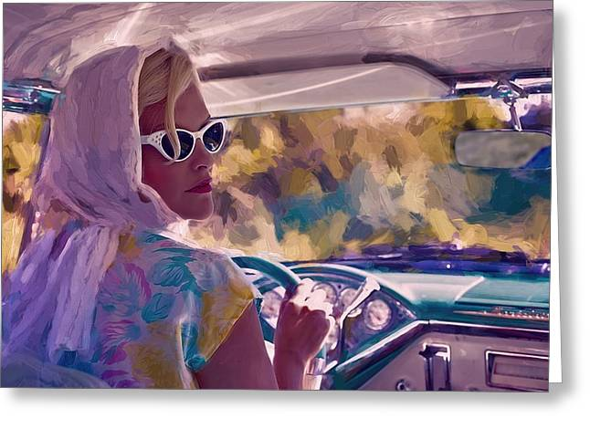 Sunday Drive Greeting Card by Louis Ferreira