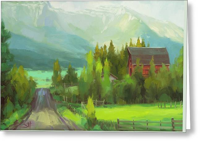 Greeting Card featuring the painting Sunday Drive by Steve Henderson