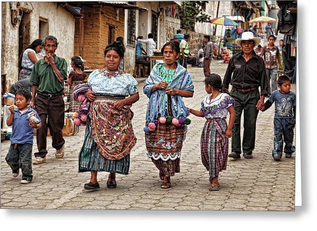 Sunday Morning In Guatemala Greeting Card