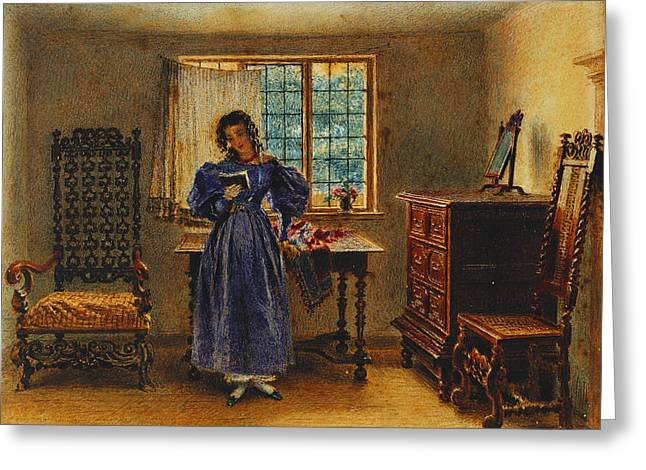 Sunday Morning Greeting Card by William Henry Hunt