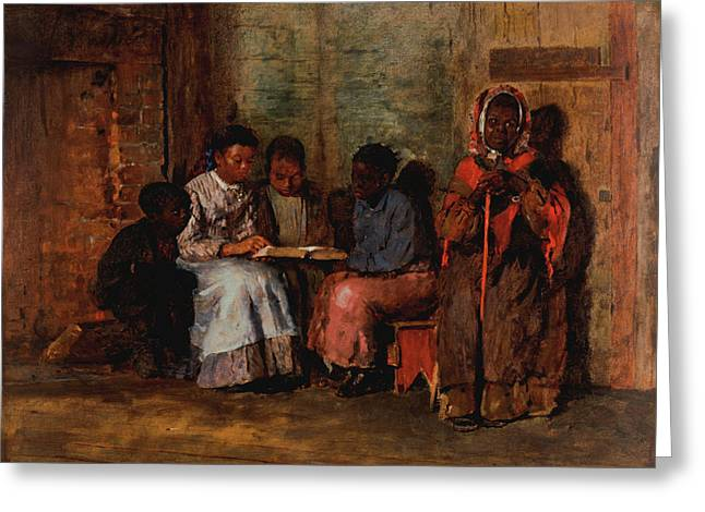 Sunday Morning Greeting Card by Winslow Homer