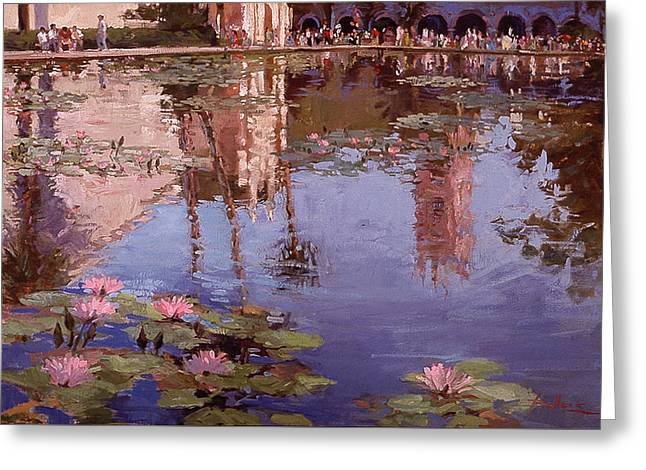 Sunday Reflections - Water Lilies Greeting Card