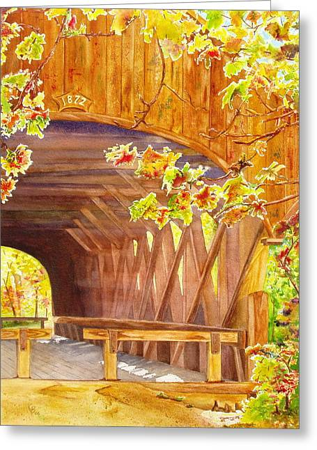 Sunday River Bridge Greeting Card