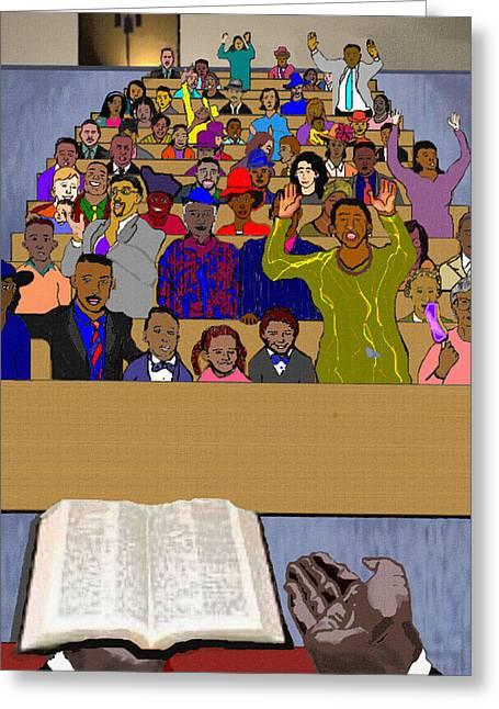 Sunday Sermon Greeting Card by Pharris Art