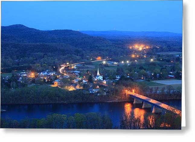 Sunderlight At Twilight From Mount Sugarloaf Greeting Card
