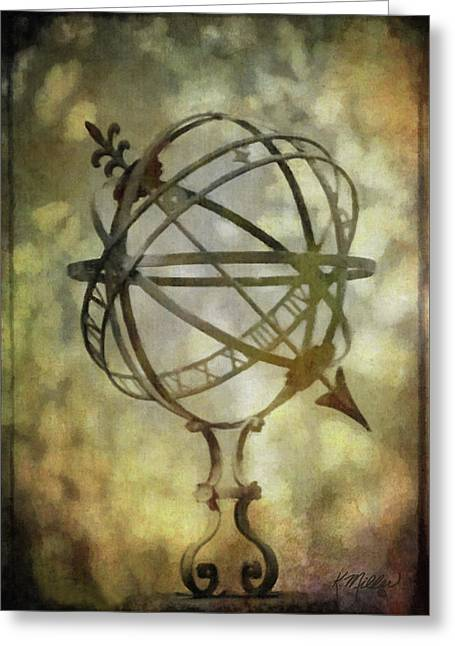 Sundial Greeting Card by Kathie Miller