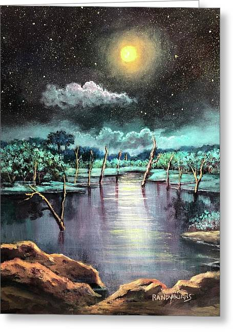 Sundials Beneath A Blue Moon Greeting Card