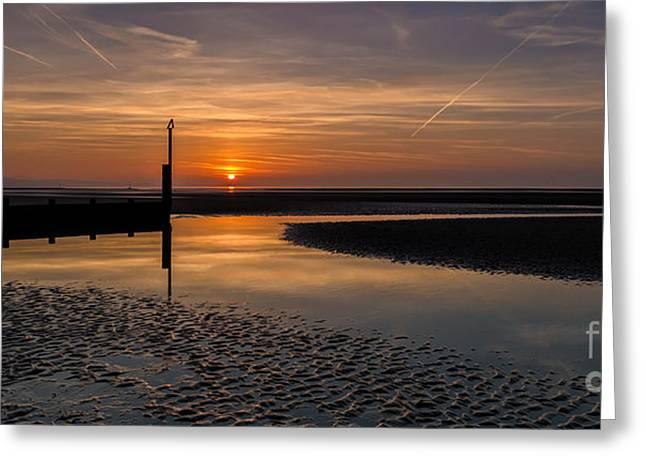 Sundown Greeting Card by Adrian Evans