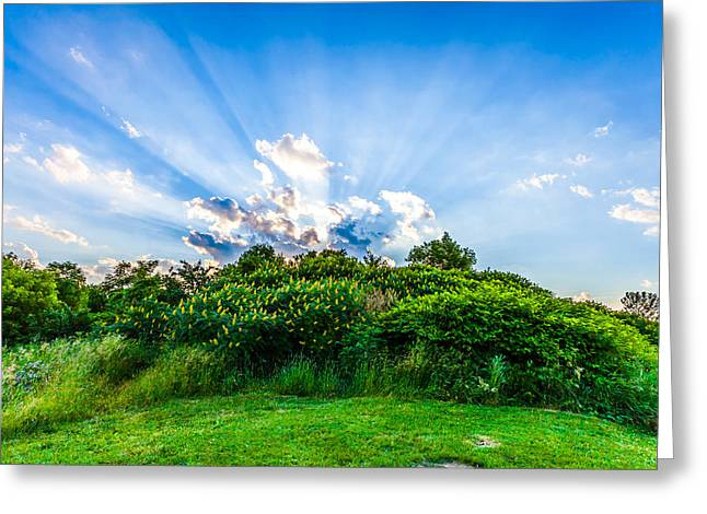 Greeting Card featuring the photograph Sundown by Anthony Rego