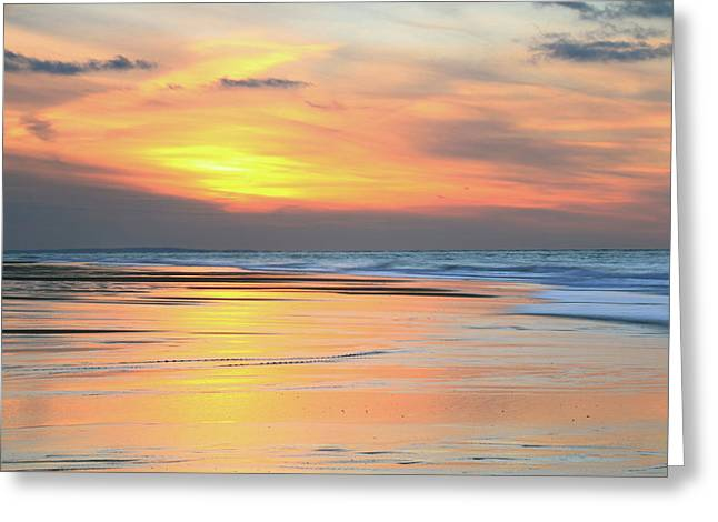 Sundown At Race Point Beach Greeting Card by Roupen  Baker
