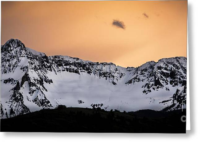 Greeting Card featuring the photograph Sundown At Sneffels Range by The Forests Edge Photography - Diane Sandoval