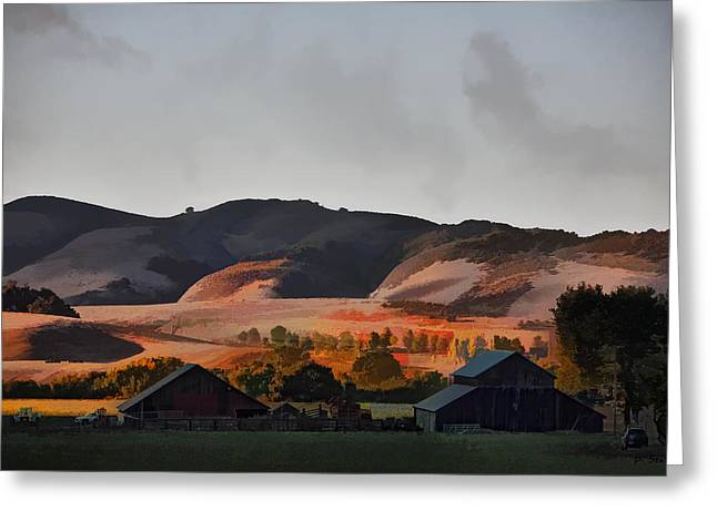Sundown At The Ranch Greeting Card by Patricia Stalter