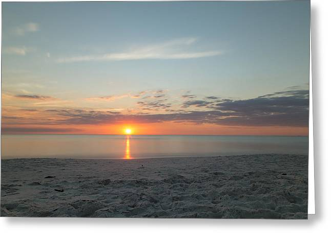 Sundown Greeting Card by Christopher L Thomley