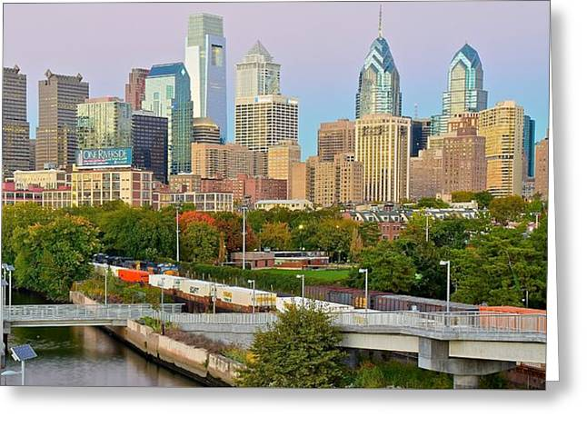 Sundown In Philly Greeting Card