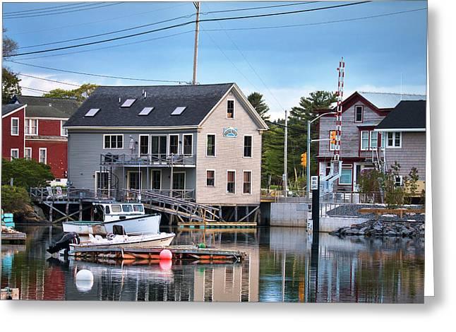 Sundown In South Bristol Maine Greeting Card
