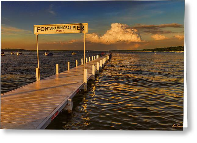 Sundown - Lake Geneva Wisconsin Greeting Card