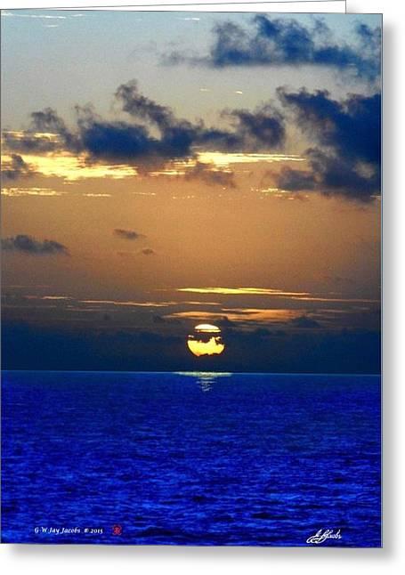 Sundown On A Tropical Sea Greeting Card