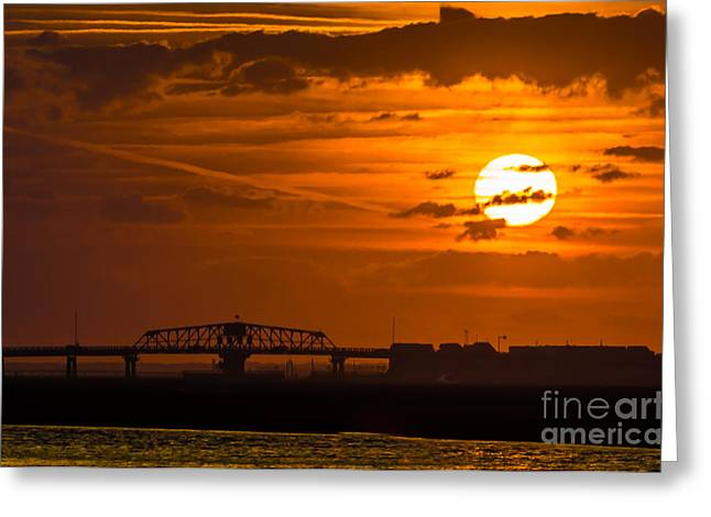 Sundown On The Charleston Coast  Greeting Card